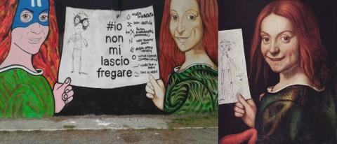 Io non mi lascio fregare - Giovanni Francesco Caroto, Ritratto di giovane con disegno infantile