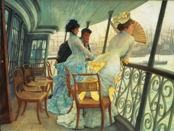 James Tissot, Il ponte dell'HMS Calcutta (Portsmouth), 1876