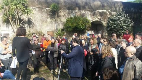 Partecipazione dei cittadini alla conferenza stampa al Casale