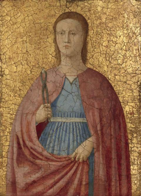 Piero della Francesca, Santa Apollonia, 1454-1469, olio tempera e oro su tavola. National Gallery of Art, Washington