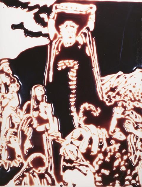 Vik Muniz, Moses (Charleton Heston) (Pictures of chocolate), 1999