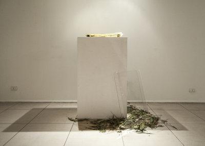 Alessandro Fusco – Forse ti vince l'assalto della paura - installation view at BLUorG, Bari 2016