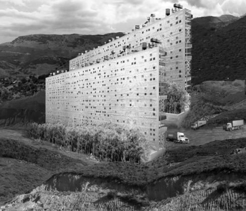 Aristide Antonas, Vertical disposition of infrastructure, from the series Vertical Village, 2013-15