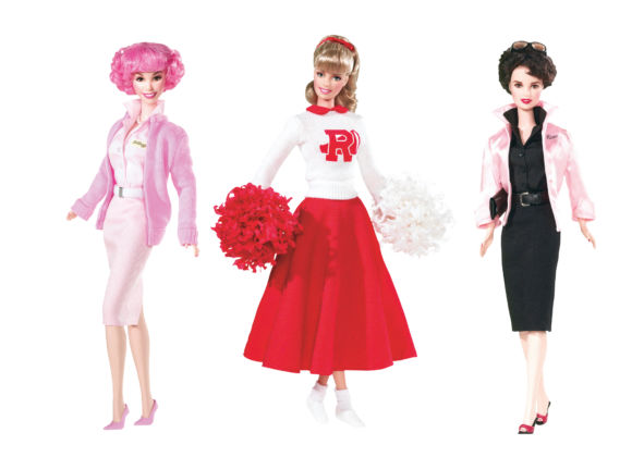 Barbie Grease Dolls. Frenchy (2008), Barbie come Sandy (2004), Rizzo (2008) - © Mattel Inc.
