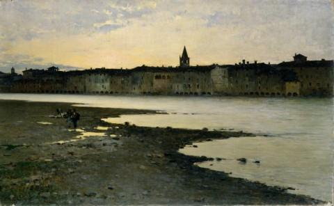 Bartolomeo Bezzi, Sulle rive dell'Adige, 1885, Mart