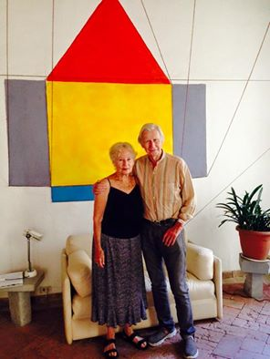 Brian O'Doherty e Barbara Novak, Casa Dipinta, Todi, 2015 - photo Todiguide.com