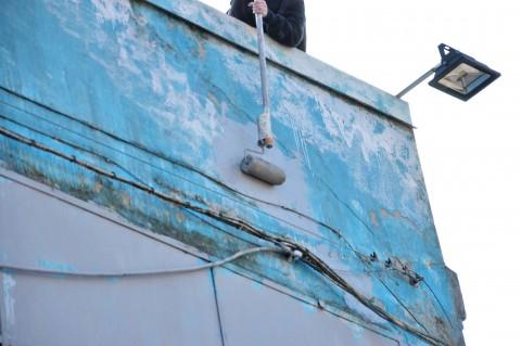 I murales di Blu cancellati a Bologna (foto Giovanni Barbera)
