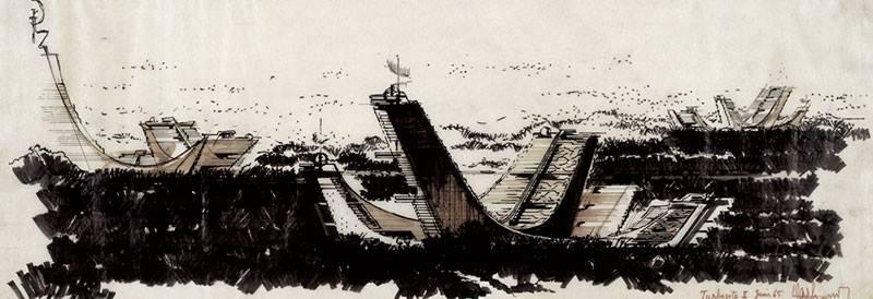 Claude Parent, Les Turbosites II, 1965 - FRAC Centre Collection