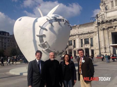 Da sinistra: l'Assessore Filippo Del Corno, Pistoletto, Carmela Rozza e Marc Magnifico (Fai) - foto Milano Today