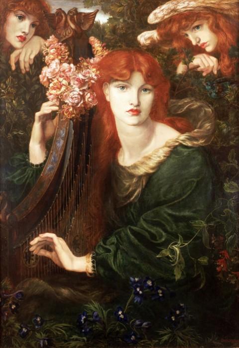 Dante Gabriel Rossetti, La Ghirlandata, 1873 - Guildhall Art Gallery - photo Scala Florence Heritage Images