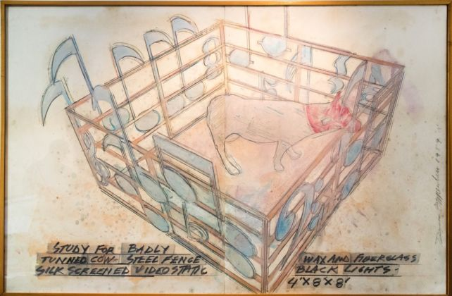 Dennis Oppenheim, Study for a Badly Tuned Cow, 1989 - Montrasio Arte