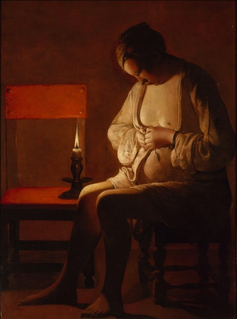 Georges de La Tour, Donna che si spulcia