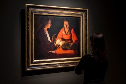 Georges de la Tour - installation view at Museo del Prado, Madrid 2016