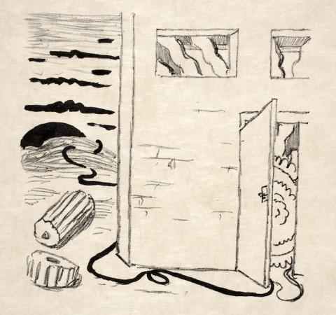 Giorgio de Chirico, 1 di 66 litografie per Calligrammes di Gustave Apollinaire, 1930 - Fondazione Giorgio e Isa de Chirico