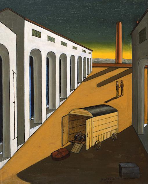 Giorgio de Chirico, Arrival of the Moving Van, 1965 ca. - Fondazione Giorgio e Isa de Chirico
