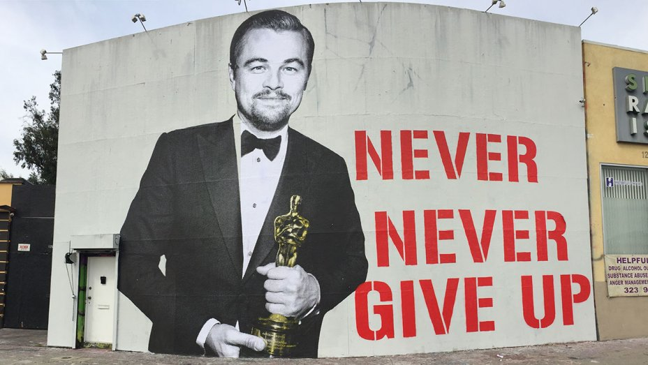 Il murales dedicato a Leonardo DiCaprio
