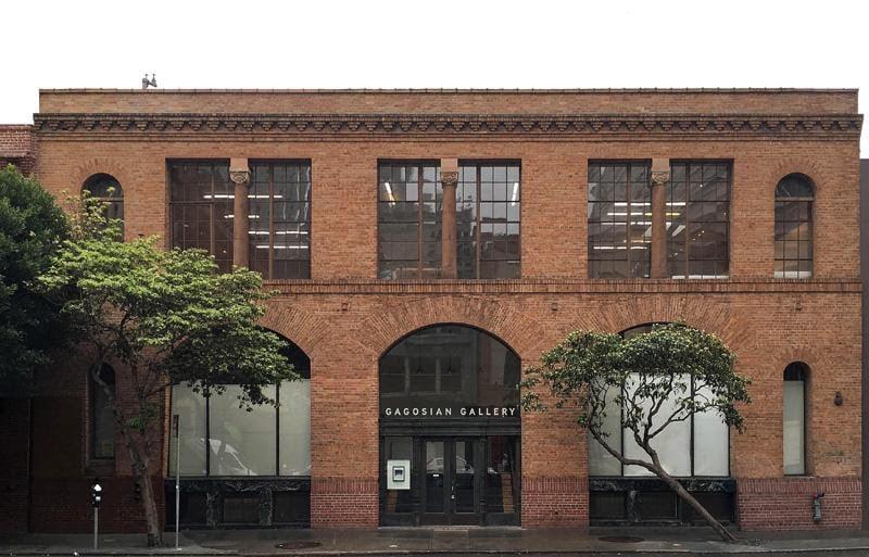 La facciata della Gagosian Gallery a San Francisco