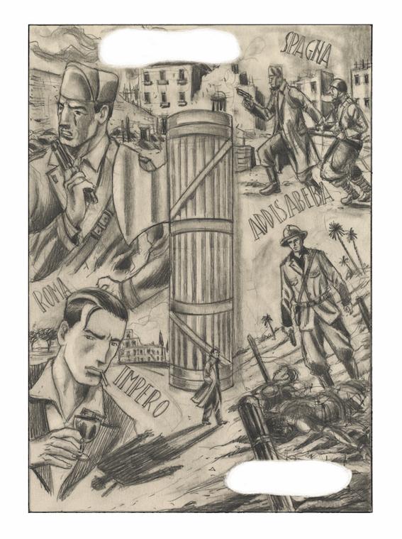 Otto Gabos - tavola tratta da L'illusione della terraferma, Rizzoli Lizard - Tricromia, Roma 2016