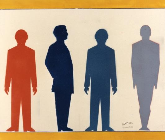 Renato Mambor, Campionatura, 1962 - tempera su cartone, cm 66.5x78