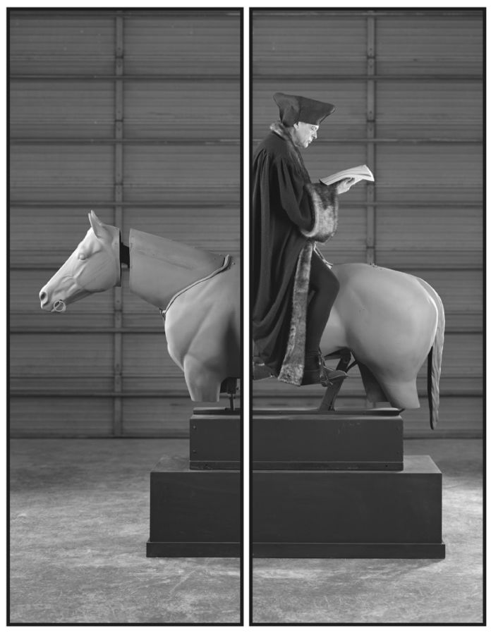Rodney Graham, Allegory of Folly. Study for an Equestrian Monument in the Form of a Wind Vane - courtesy Sammlung Goetz, München