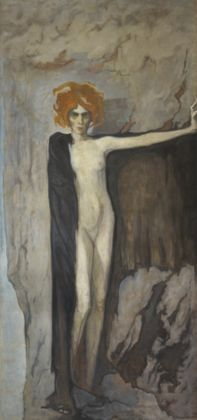 Romaine Brooks, La marchesa Casati, 1920 circa, olio su tela, 248 x 120 cm, Collezione Lucile Audouy ©Photo Thomas Hennocque