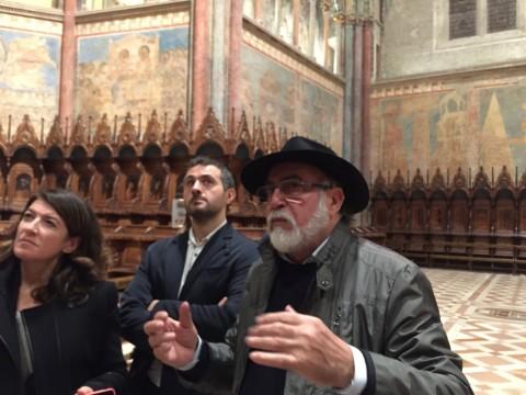Sergio Fusetti, capo restauratore della Basilica di San Francesco d'Assisi