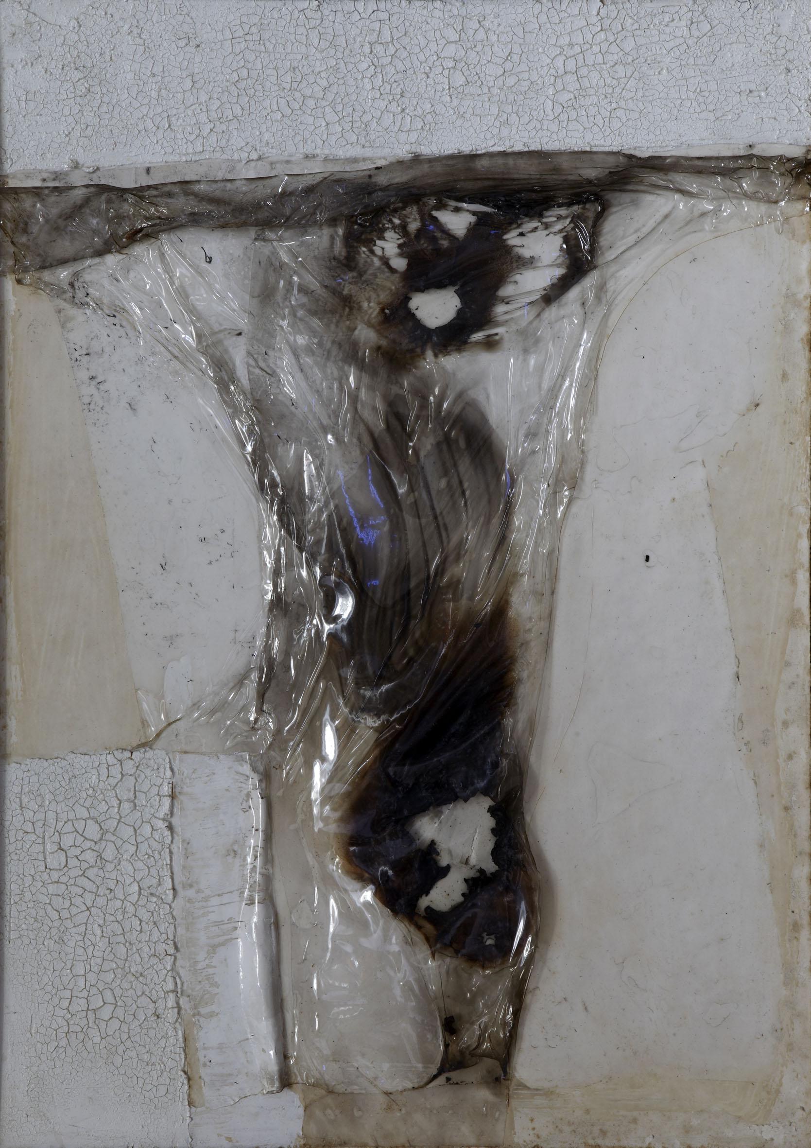 Alberto Burri, Combustione plastica 64CP3 (Crocifissione), 1964 - Collezione privata, Firenze