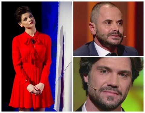 """Alessandra Amoroso e i due fidanzati Francesco e Matteo - ultima puntata di """"C'è posta per te"""" 2016"""