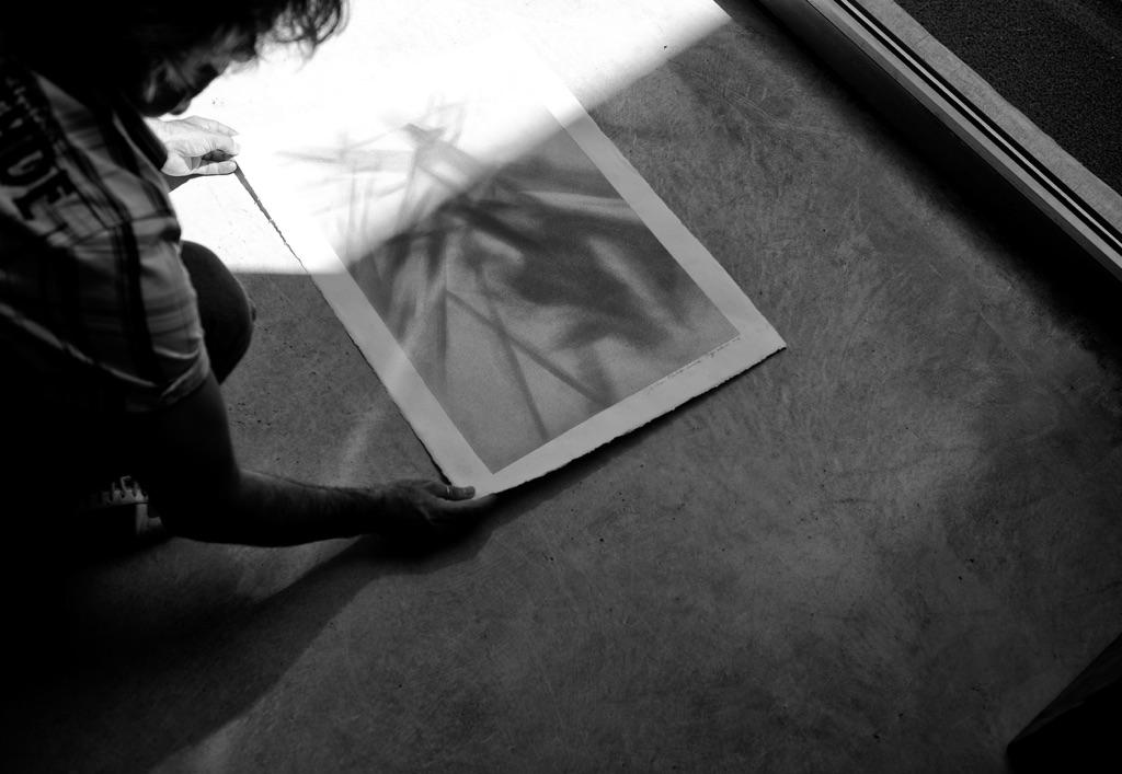 Antonio Marchetti Lamera nel suo studio ai Bocs di Cosenza per la residenza de I Martedì Critici