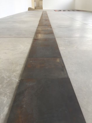 Can I Step On It? - installation view at Galleria Franco Noero, Torino 2016 - Carl Andre