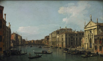 Canaletto, The Grand Canal, Venice, Looking South-East from San Stae to the Fabbriche Nuove di Rialto, c. 1738 - Paul G. Allen Family Collection