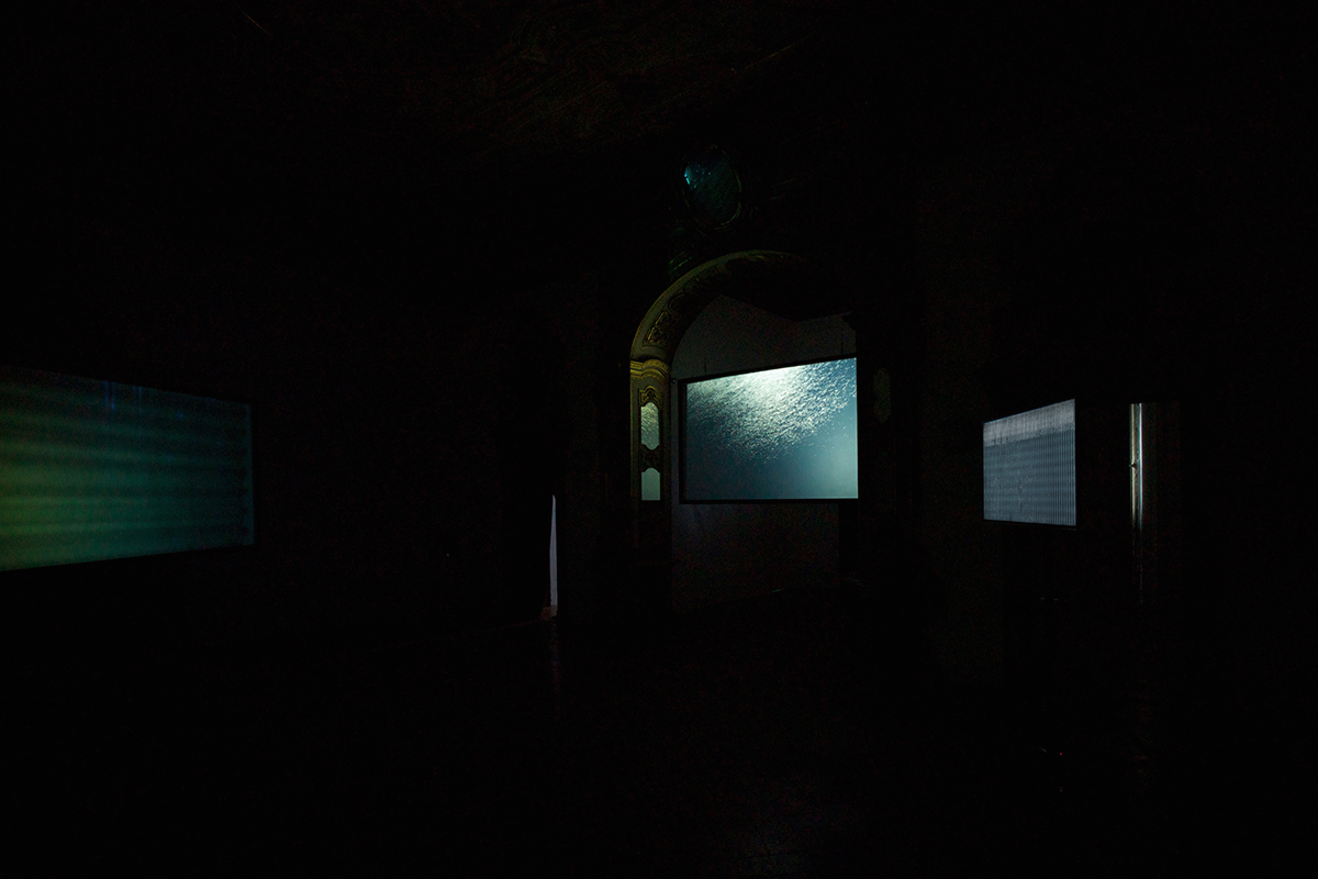 Em'kal Eyongakpa - Beats-bits of(f) sPACE(s) letters from etokobarek 1-I - installation view at APalazzo Gallery, Brescia 2016