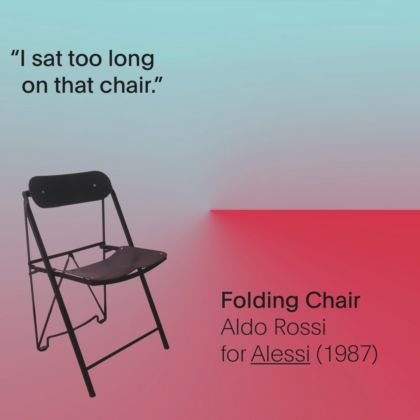 Failures - Aldo Rossi, Folding Chair, 1987 - prod. Alessi
