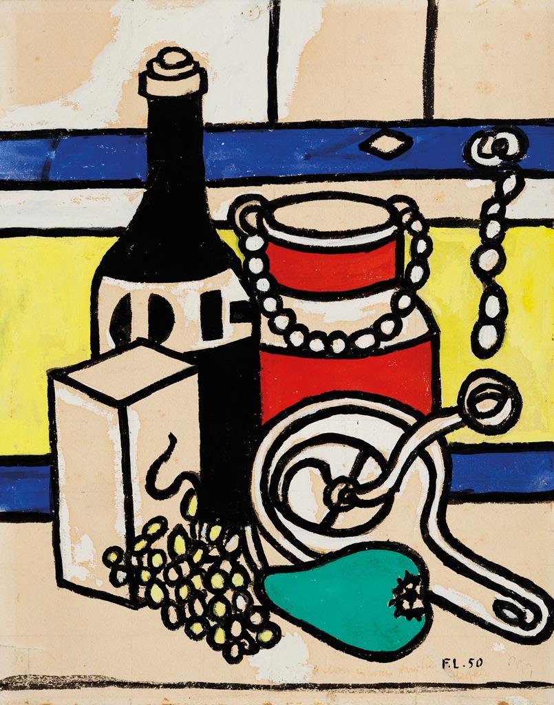 Fernand Léger, Natura morta con il bidone del latte, 1950
