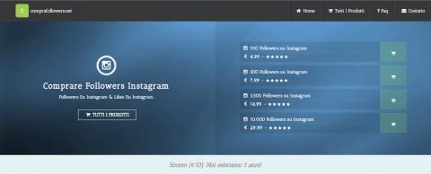 Follower a pagamento su Instagram