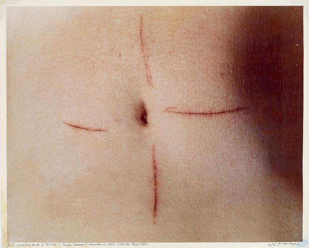 Gina Pane, Cicatres de L'actione, Le corps pressent, Insbruck 1975 e Psyché 1974