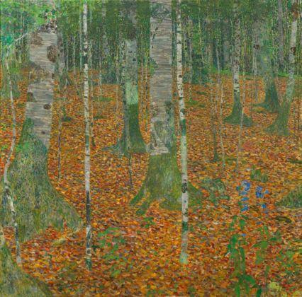 Gustav Klimt, Birch Forest, 1903 - Paul G. Allen Family Collection