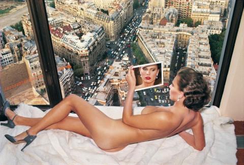 Helmut Newton, Bergstrom over Paris, from the series Sleepless Nights, 1976 © Helmut Newton Estate