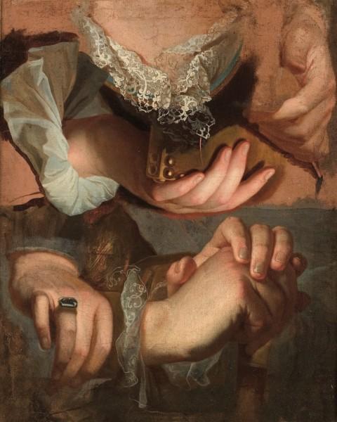 Hyacinthe Rigaud, Studio di mani, 1715-23 – courtesy Musée Fabre de Montpellier Méditerranée Métropole – credit Frédéric Jaulmes