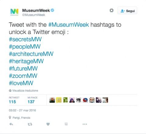 I sette hashtag di #MuseumWeek 2016