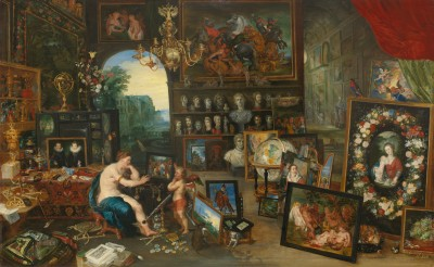 Jean Brueghel the Younger, The five senses The sight, c. 1625 - Paul G. Allen Family Collection