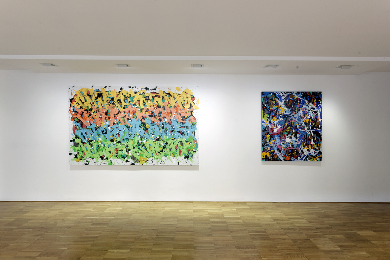 JonOne – Predictably Irrational - installation view at Wunderkammern, Milano 2016