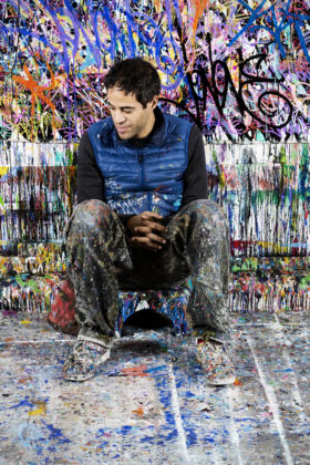 JonOne, 2015 - photo ©Gwen Le Bras