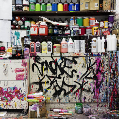 JonOne, ambiances, 2015 - photo © Gwen Le Bras