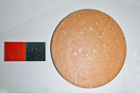 Luigi Mainolfi - Il colore della Scultura la forma della Pittura – installation view at Galleria Paola Verrengia, Salerno 2016 - photo di Ciro Fundarò