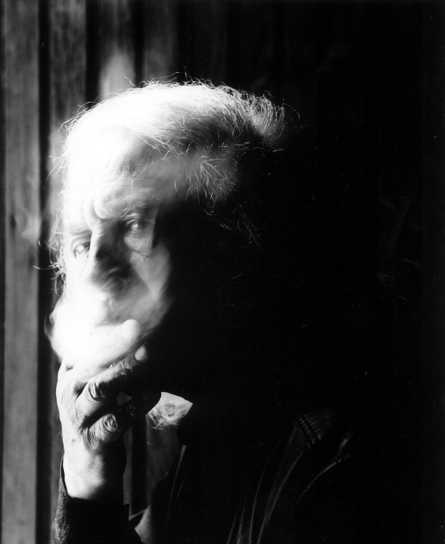 Mario Giacomelli ritratto da Guido Harari, 1999 - courtesy Guido Harari - Contrasto