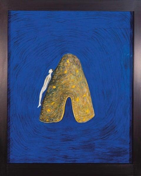 Mimmo PaladinoL'Isola, 1993Mischtechnik auf Leinwand59 x 48,5 cmInv. 2046Foto: Galerie Ropac, Salzburg