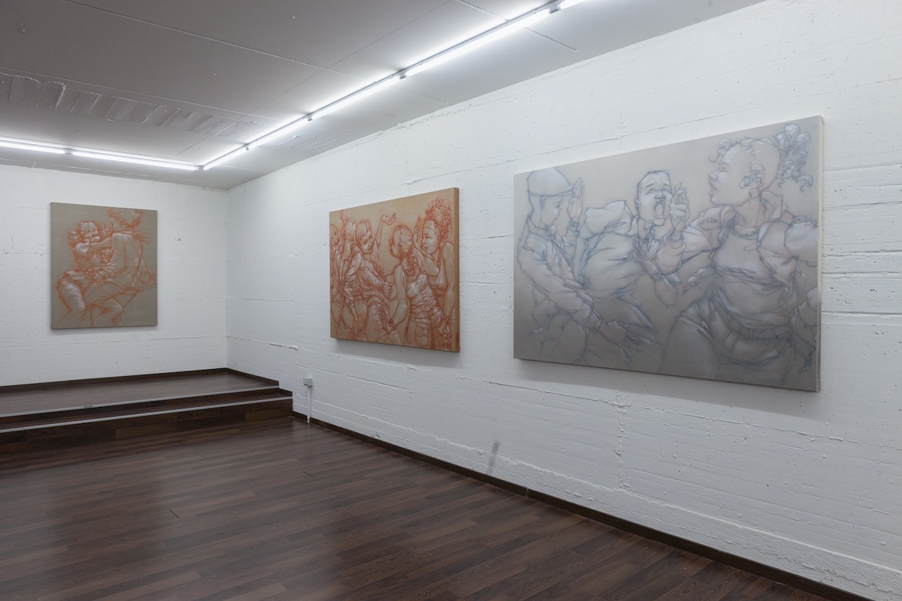 Mode 2 – Transitions - installation view at Patricia Armocida, Milano 2016 - photo Carlo Beccalli