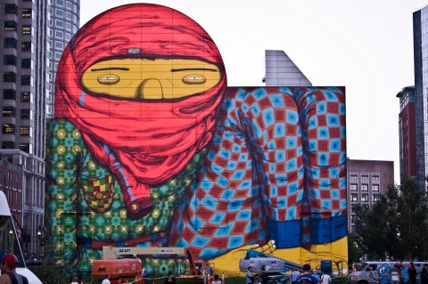Murale di Osgemeos a Boston