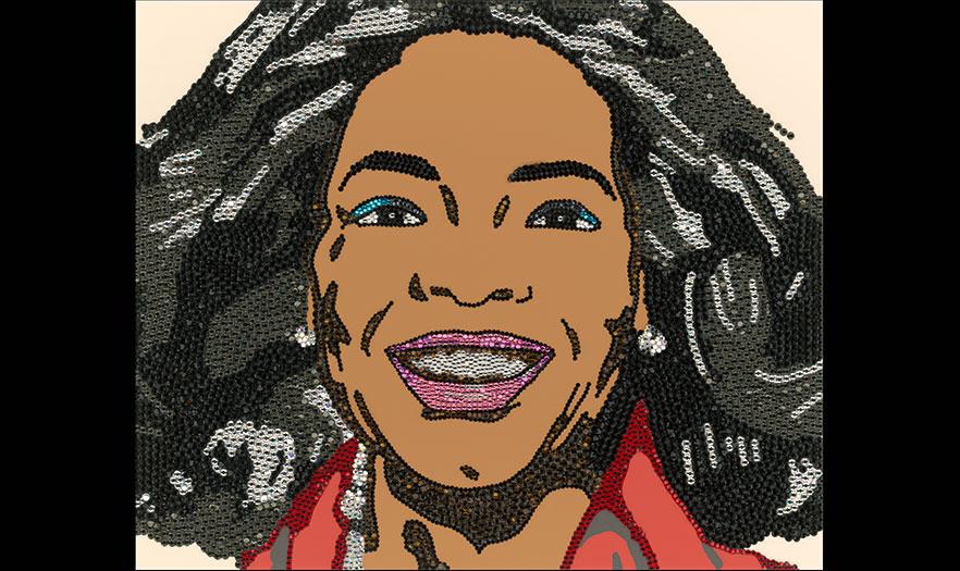 Oprah Winfrey by Mickalene Thomas, 2007-08